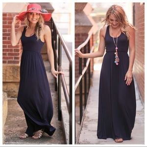 CLOSEOUT!  LAST ONE!  Navy Maxi Dress